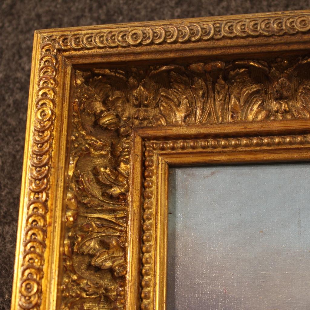 Tavolo-da-pranzo-mobile-da-salotto-stile-antico-in-legno-dipinto-vintage-900