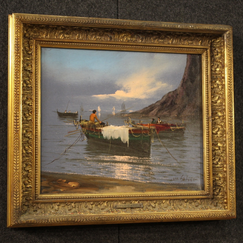 Tavolo-da-pranzo-mobile-da-salotto-stile-antico-in-legno-dipinto-vintage-900 miniatura 6