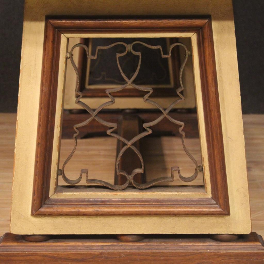 Tavolo-da-pranzo-mobile-da-salotto-stile-antico-in-legno-dipinto-vintage-900 miniatura 9