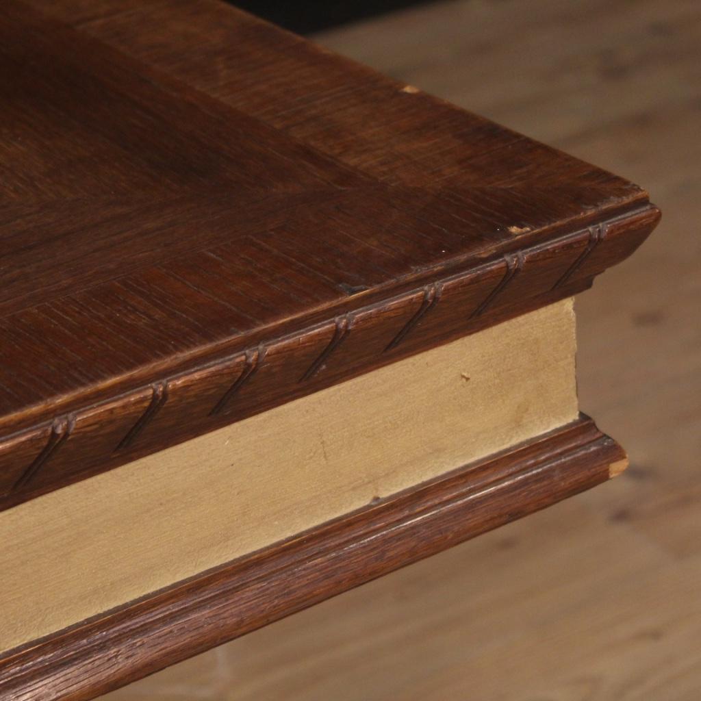 Tavolo-da-pranzo-mobile-da-salotto-stile-antico-in-legno-dipinto-vintage-900 miniatura 10