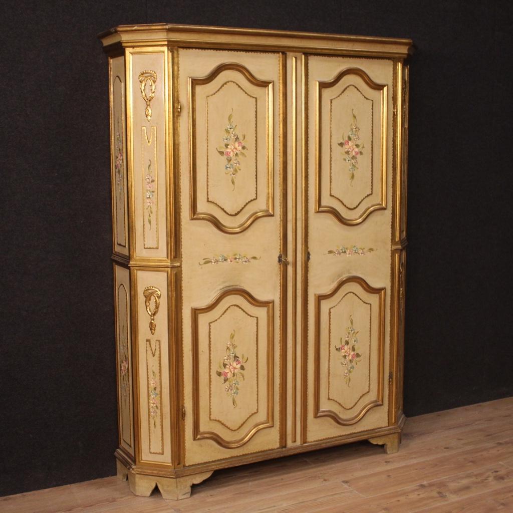 Peinture Sur Meuble Ancien details about armoire verni meuble armoire en bois d'or peinture style  ancien 900