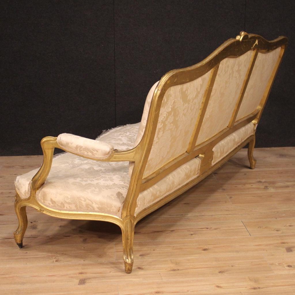 Sofa Couch Möbel aus vergoldet Holz Stoff Wohnzimmer Sitz ...