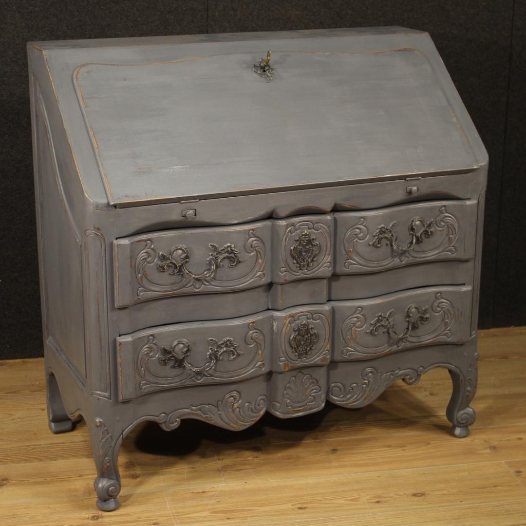 Peinture Sur Meuble Ancien details about rabat secretaire meuble bureau secrétaire bois peinture  shabby style ancien