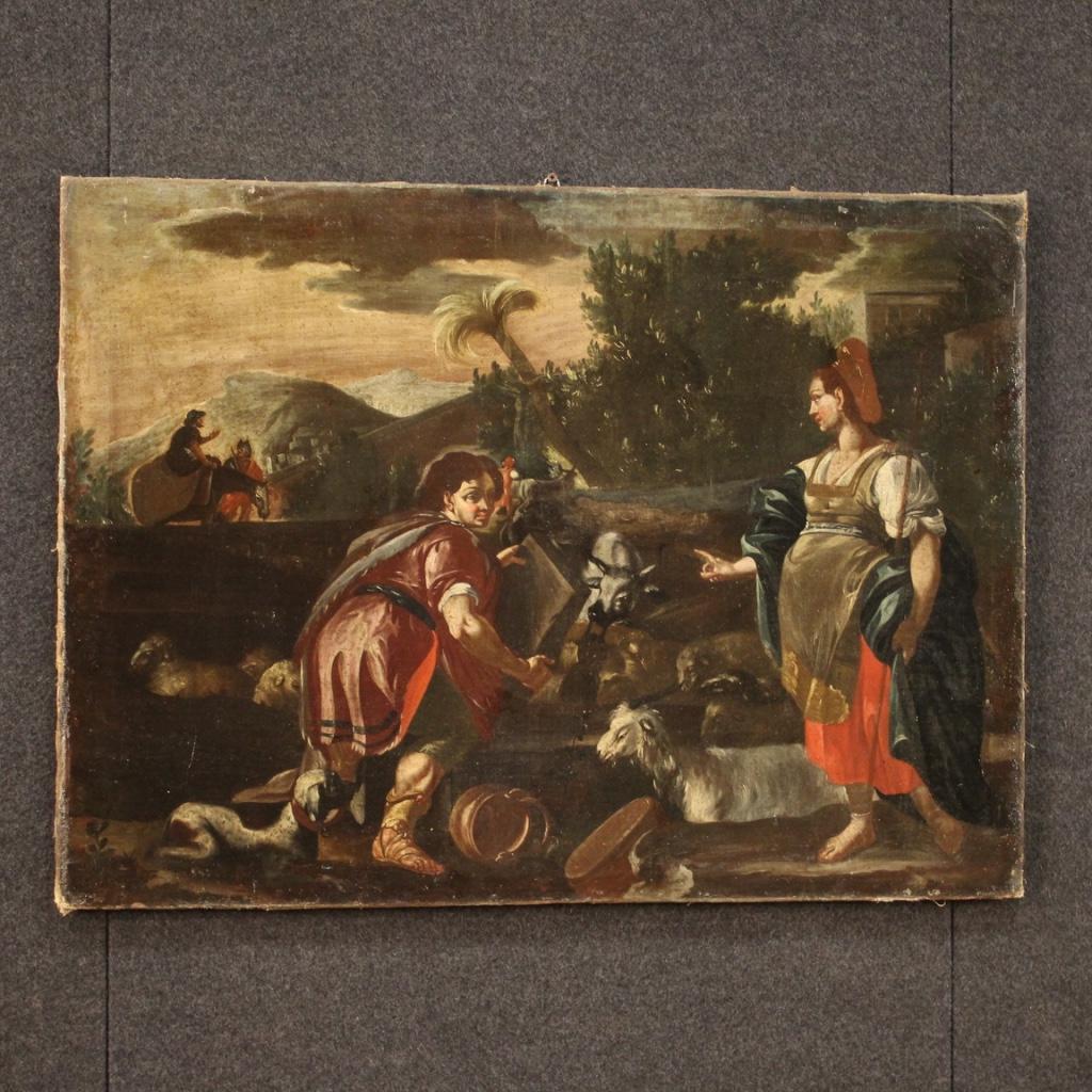 Angoliera-laccata-mobile-libreria-credenza-doppio-corpo-ad-angolo-legno-dipinto
