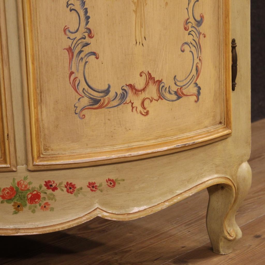 Angoliera-laccata-mobile-libreria-credenza-doppio-corpo-ad-angolo-legno-dipinto miniature 7