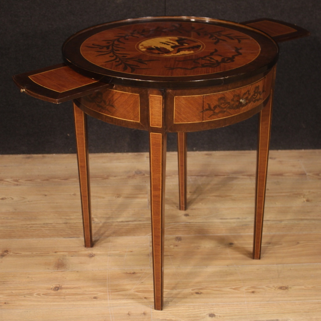 Table antique style Louis XVI round side table living room ...