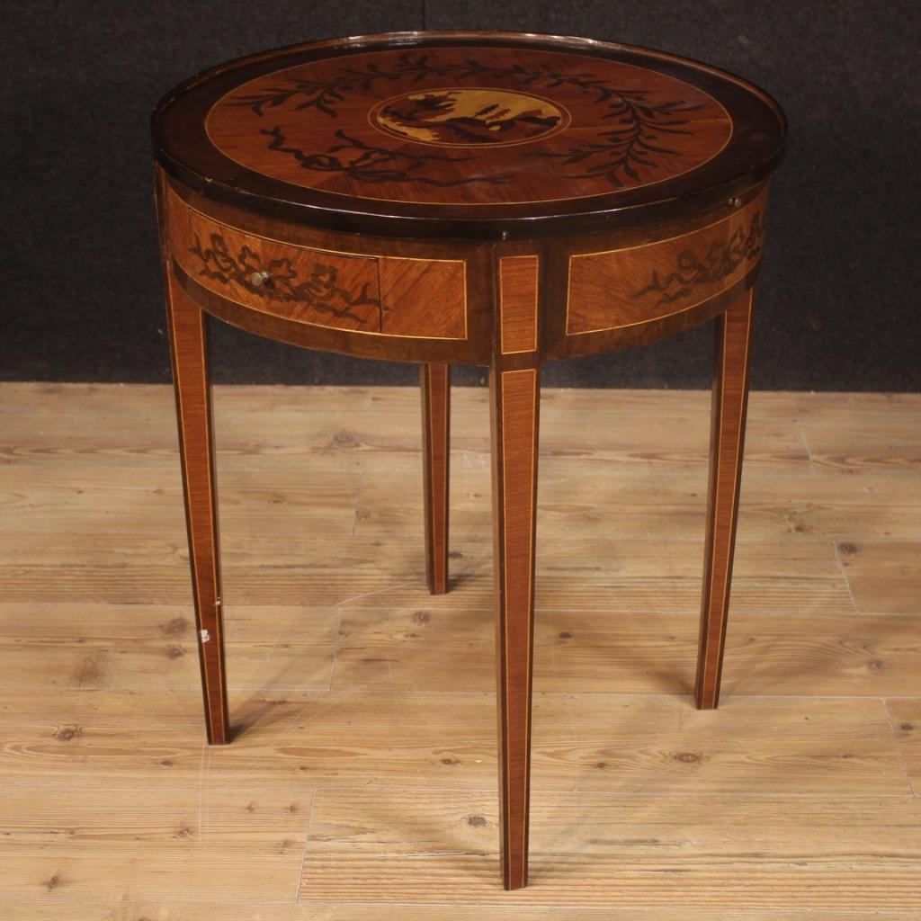 Tavolino Rotondo Da Salotto Antico.Dettagli Su Tavolo Stile Antico Luigi Xvi Tavolino Rotondo Da Salotto Mobile In Legno 900