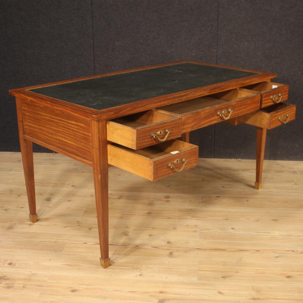 Bureau Table De Style Ancien Anglais Meuble En Bois Avec Bronzes 900 Ebay