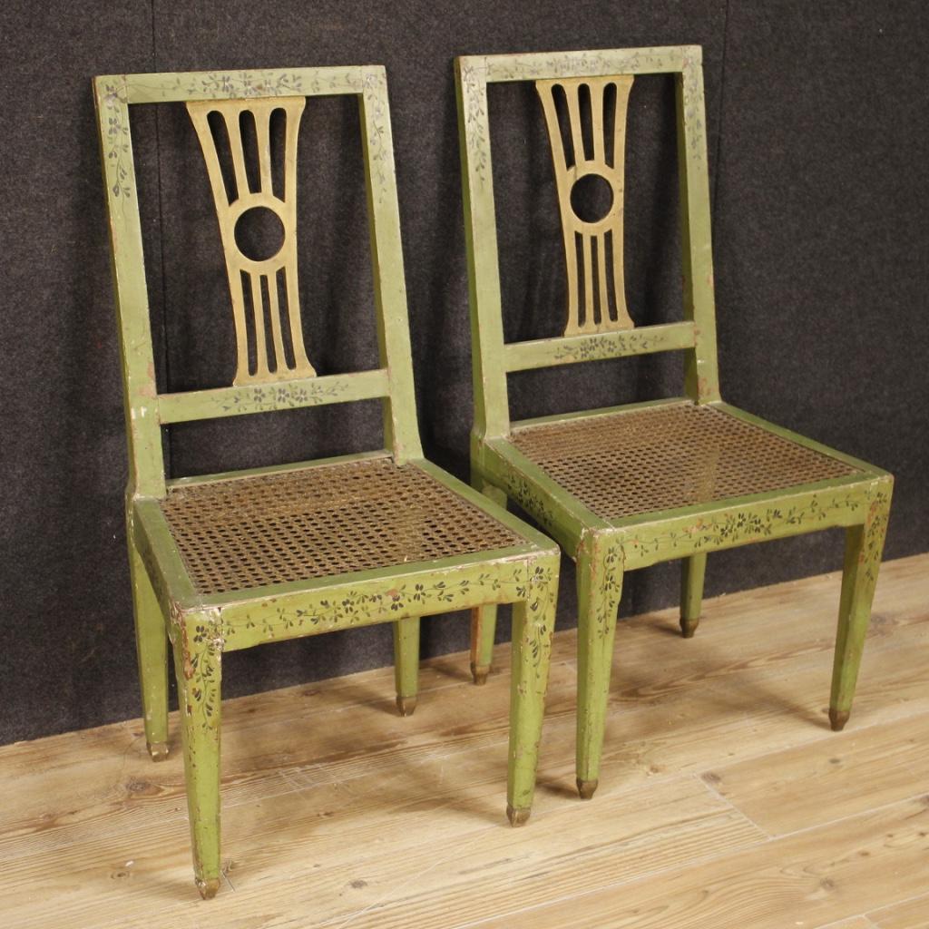 6 sedie mobili poltrone antiche da salotto in legno for Mobili 800 italiano